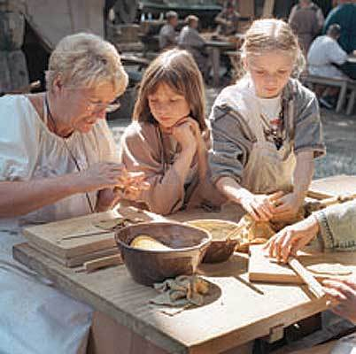 Kinder in der Megedeborch