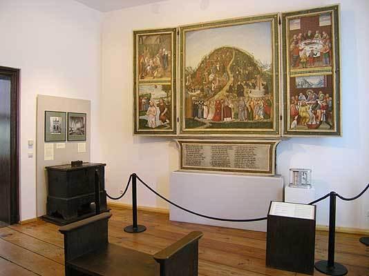 Dauerausstellung Reformationsgeschichte mit Weinbergaltar von Lucas Cranach d. J.