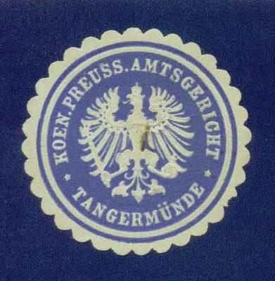 Siegelmarke des Amtsgerichts Tangermünde
