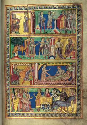 Merseburger Bibel, Bd. 1 fol.9v, begonnen vor 1185