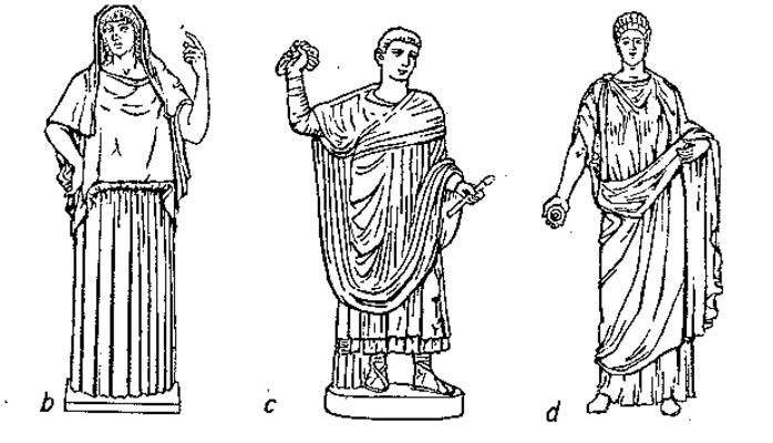 griechische Mode früher