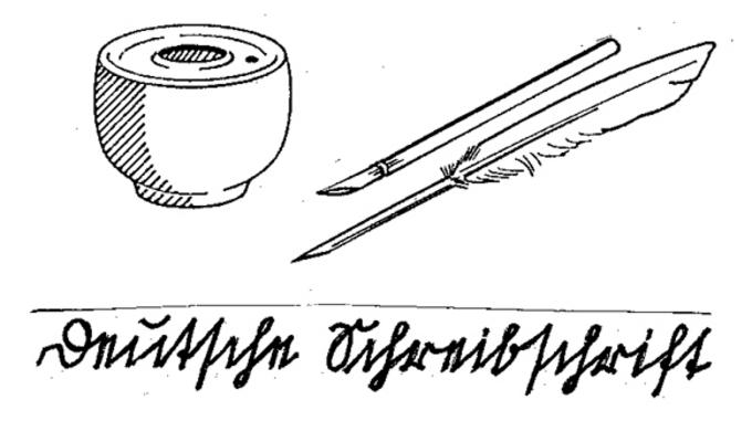 Schreiben mit der Feder