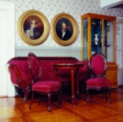 Historische Sitzgruppe des Malerehepaares Georg Heinrich und Elise Crola