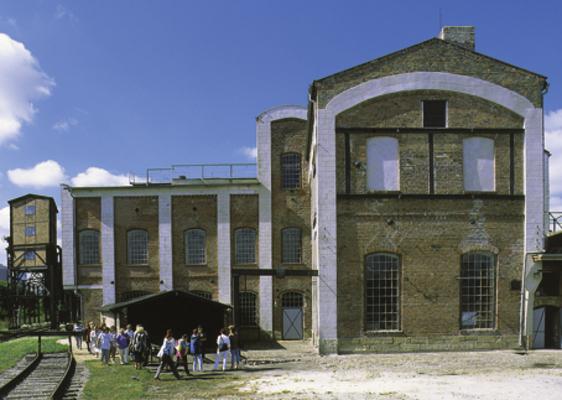 Kernbereich der Brikettfabrik (Pressen- und Trocknerhaus)