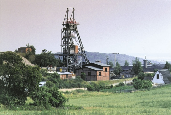 Blick auf das Bergwerk