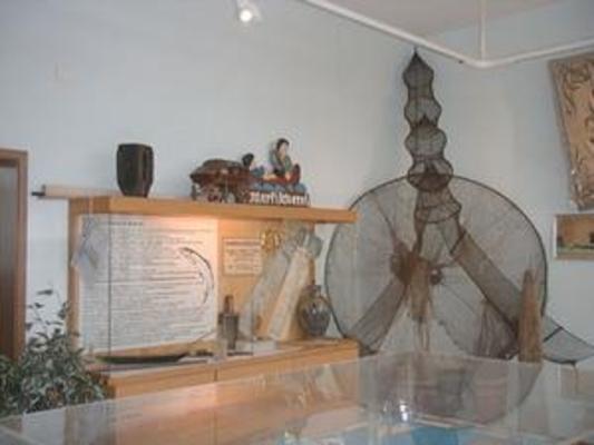 Blick in die Ausstellung Fischerei