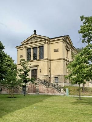 Außenansicht des Robertinum am Universitätsplatz, in dem sich das Archäologische Museum befindet
