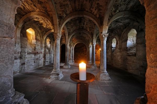 Spätromanische Krypta Kloster Memleben (Foto: Andreas Stedtler)