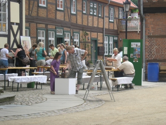 Museum aktiv anlässlich eines Museumsfestes auf dem Propsteiplatz