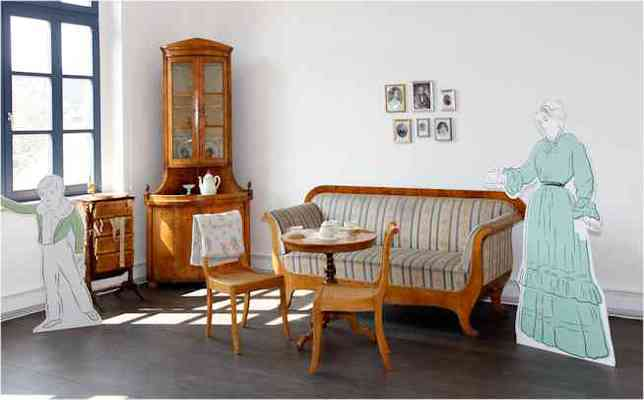 Wohnzimmer zur Loewes Zeiten