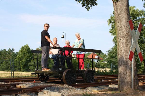 Draisine des Eisenbahnmuseums Kötzschau