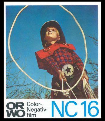 ORWO-Werbung NC16 Junge als Cowboy