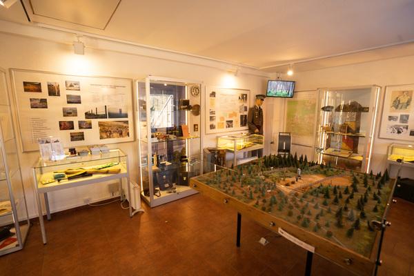 Ausstellungsraum im Kleinen Grenzmuseum