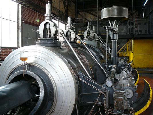 Dampfmaschine Nr. 7, Steuerwellenseite; © Hüttenmuseum Thale