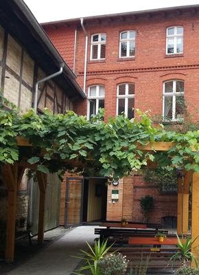 Eingangsbereich zum Museum im Innenhof des Grundstücks Voigtei 48 (Foto: Städtisches Museum Halberstadt)